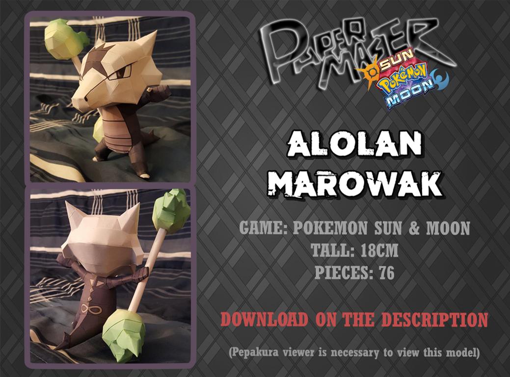 Alolan Marowak - Papercraft (DOWNLOAD) by RavaMaster
