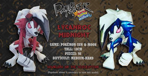 Lycanronc Midnight Form - Papercraft (DOWNLOAD)