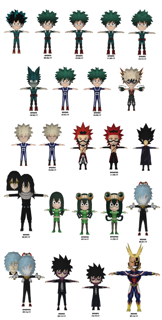 Boku no Hero Academia (Papercraft Project) by RavaMaster