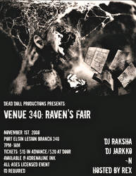 Raven's Fair Poster Design One.