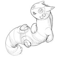 May PokeSketch 12 - Furret! by ItsDraconix