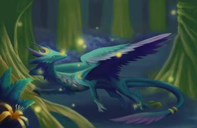 Fireflies by DracoLuvian