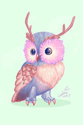 Owl by DracoLuvian