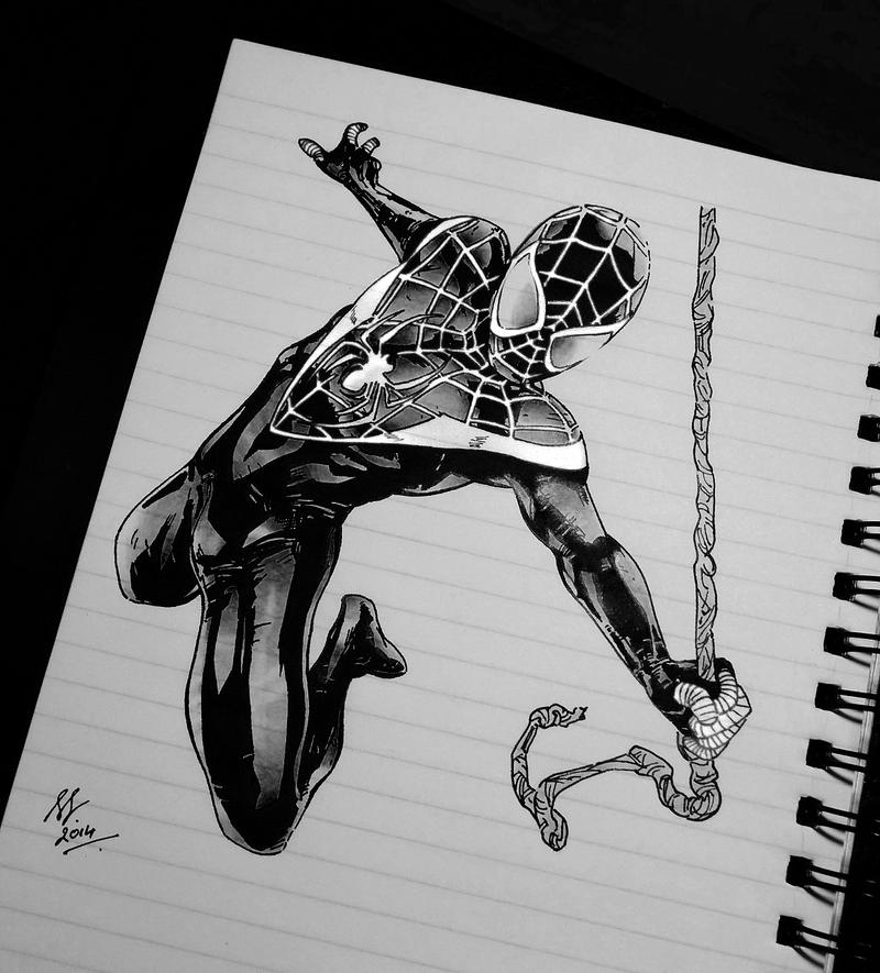BLACK SPIDERMAN by ANNGEINROGER