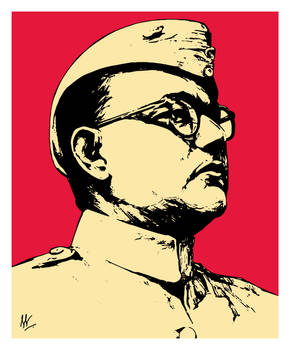 Subhas Chandra Bose by ANNGEINROGER