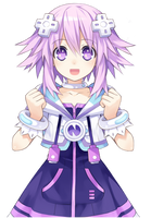 Hyperdimension Neptunia Neptune Sparkly Eyes by Pumpkin-Pai