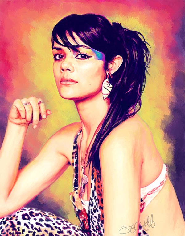 Natasha Khan of Bat for Lashes by greyviolett