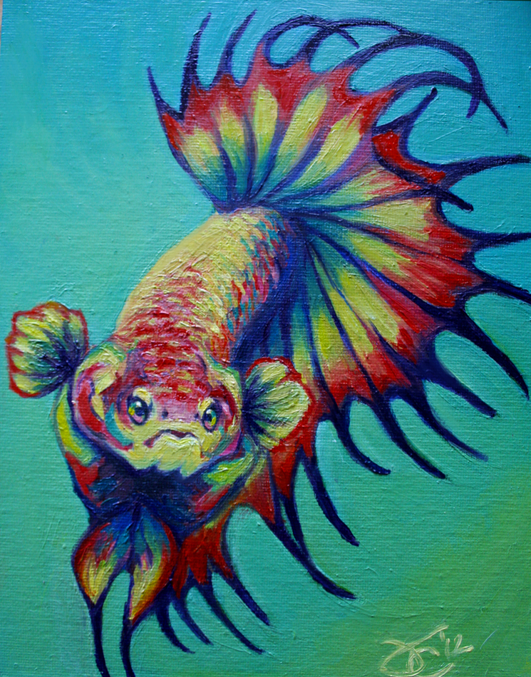 Rainbow crowntail i by greyviolett on deviantart for Order betta fish