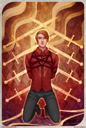 Commission: Eight of Swords by R-Aters
