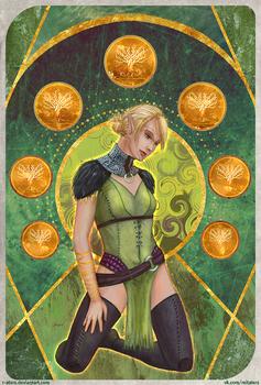 DAO:A - Velanna || The Seven of Pentacles