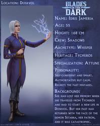 Character sheet: Idris Jameria