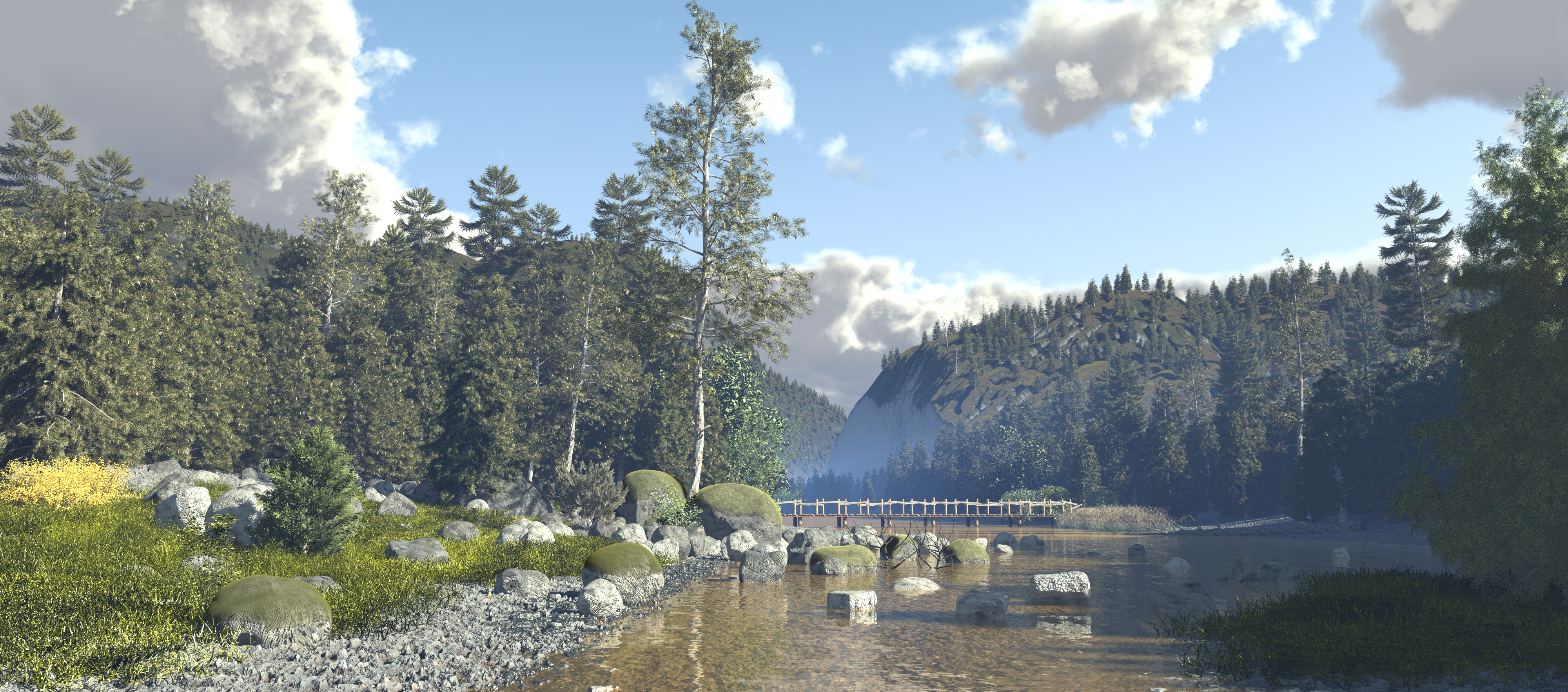 Pines river by c-ramgfx