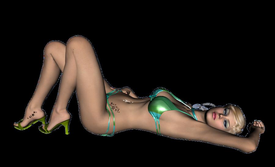 Beach Lady Group Nude