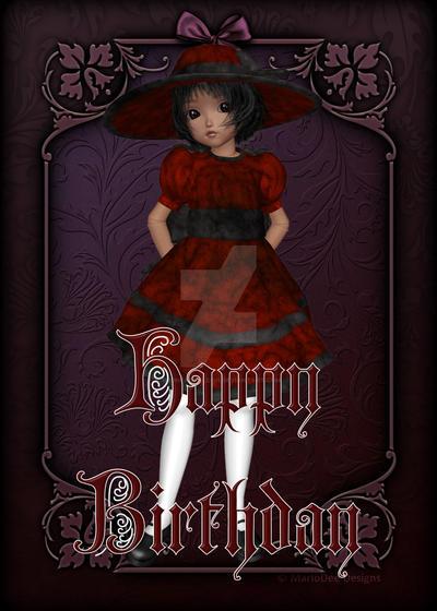 Gothic doll happy birthday card design 2 by redheadfalcon on gothic doll happy birthday card design 2 by redheadfalcon bookmarktalkfo Gallery