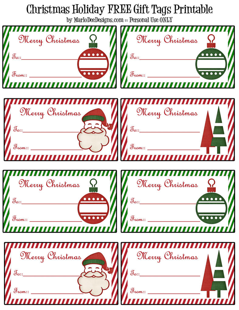 FREE Christmas Gift Tags Printable Page by RedHeadFalcon on DeviantArt