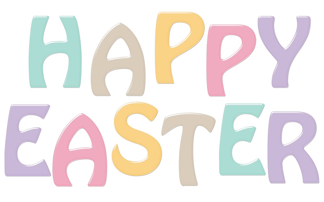 Happy Easter Word Art d1 by RedHeadFalcon on DeviantArt
