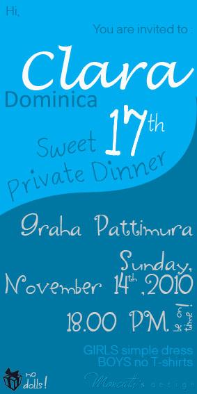 17 th birthday invitation desingns