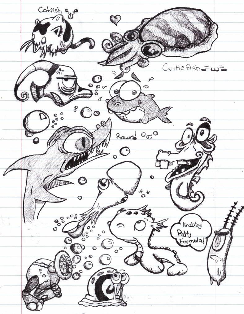 Sea Doodles by xXxSkullsxXx