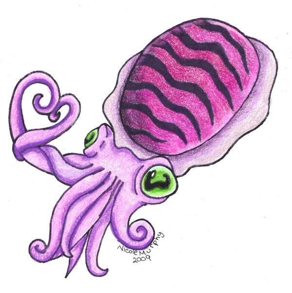 Purple Cuttlefish by xXxSkullsxXx