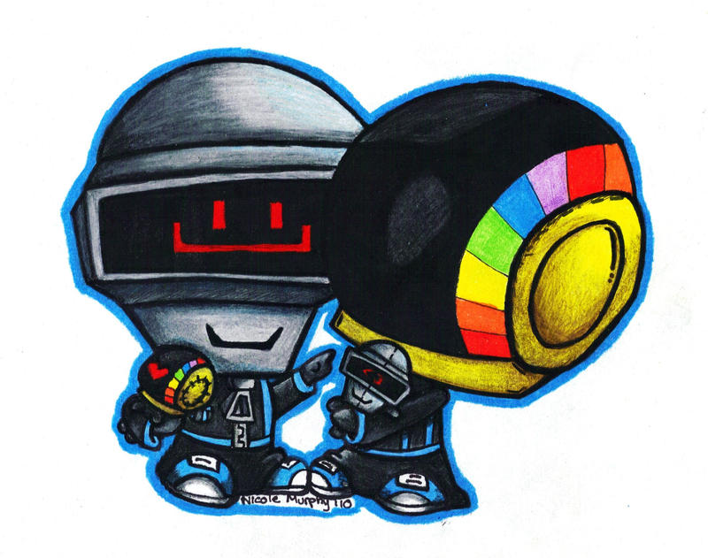Daft Punk - Plushies by xXxSkullsxXx