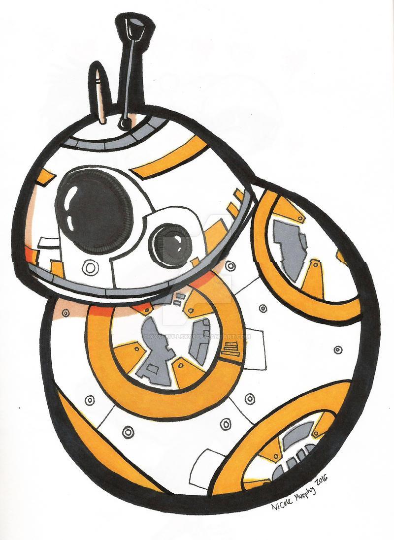 BB-8 Doodle by xXxSkullsxXx