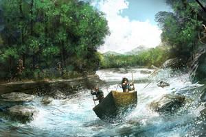 Pathfinder, rough rapids by faroldjo