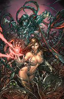 witchblade and the darkness by faroldjo