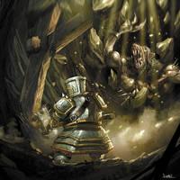 warhammer dwarf vs ogre skaven by faroldjo