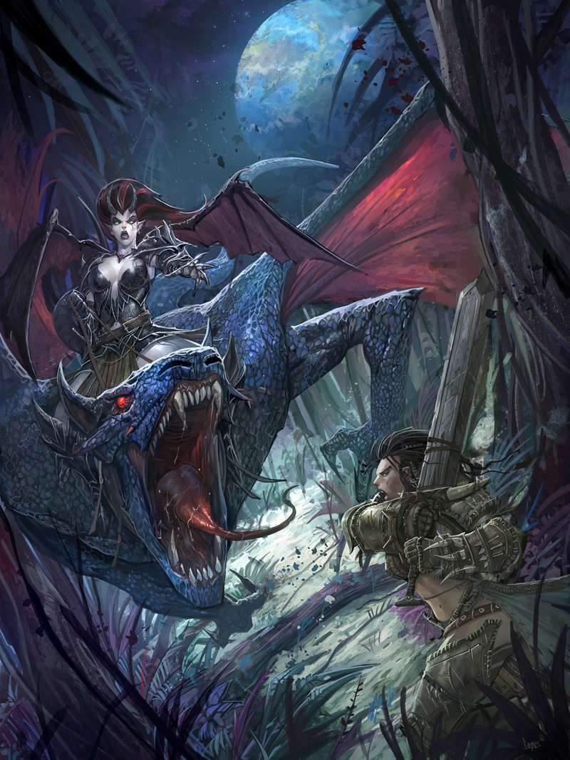 Paizo Moonscar Cover by faroldjo
