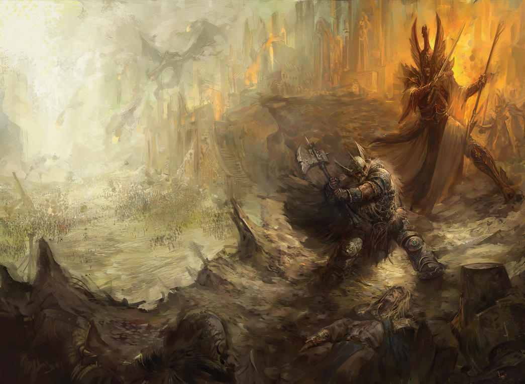 The great betrayal Warhammer by faroldjo