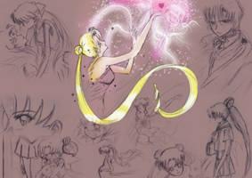 Sailor Moon tribute-doujinshi by Higureoneesama