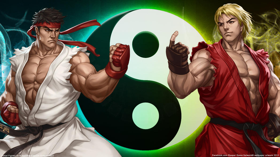street fighter- ryu and ken wallpaperfiorerose on deviantart