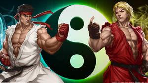 Street Fighter- Ryu and Ken Wallpaper