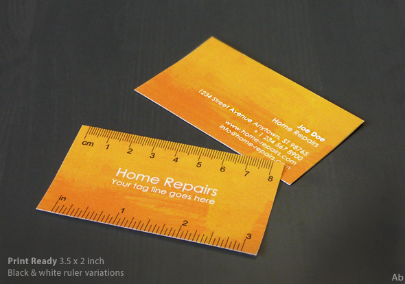 Handy Business Card with Ruler by DarkoAb