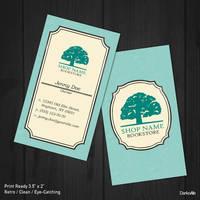 Bookstore Retro Business Card by DarkoAb