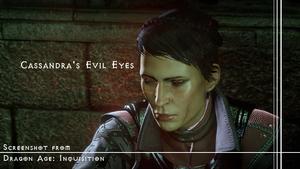 [DA:I] Cassandra's evil eyes (spoiler included)