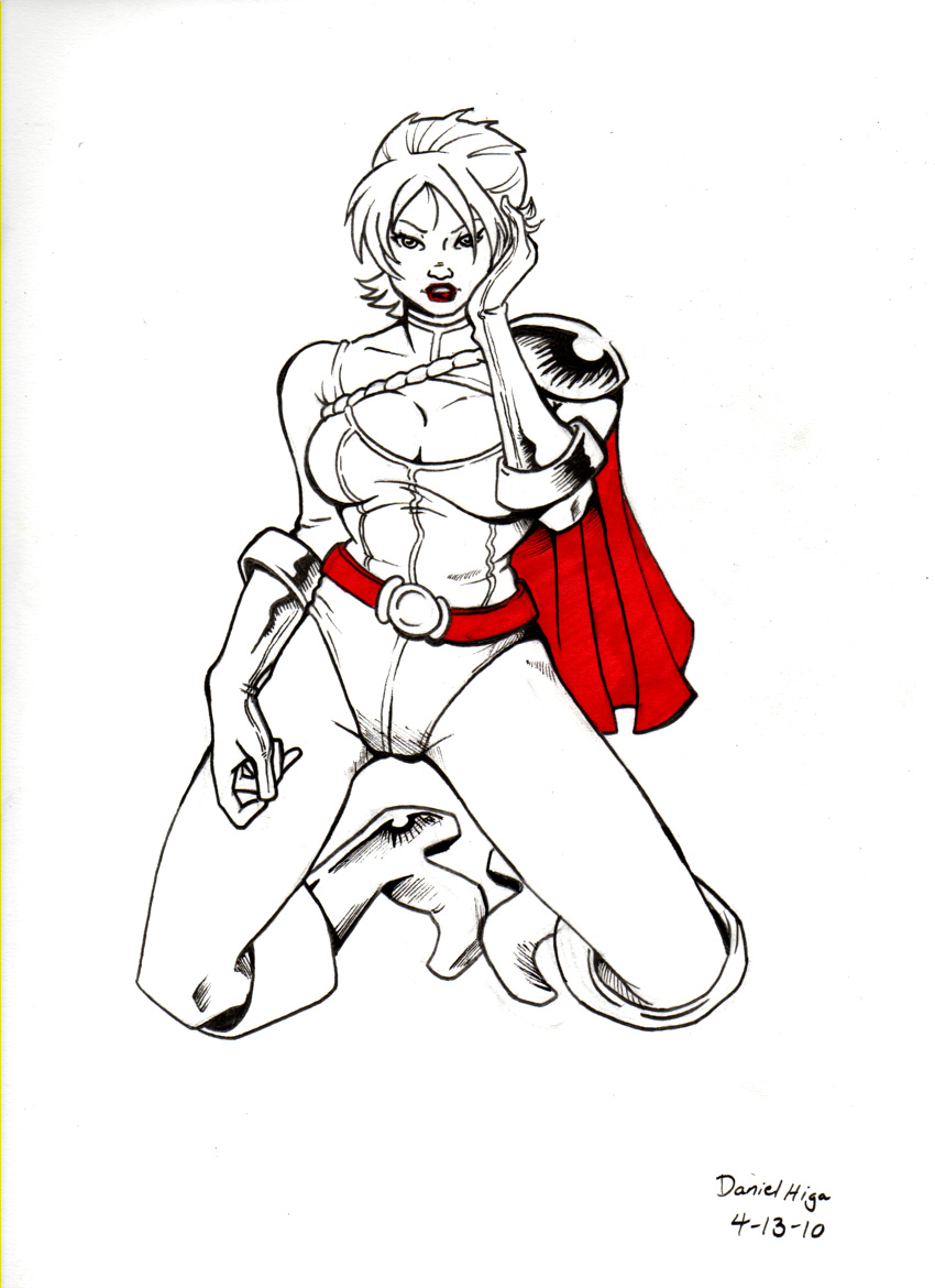 Power Girl Pin Up by dandesuka