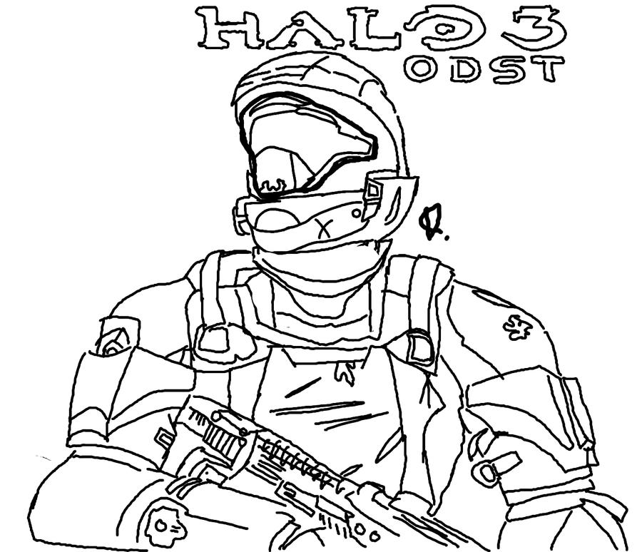 Halo colouring pictures for Halo 3 coloring pages