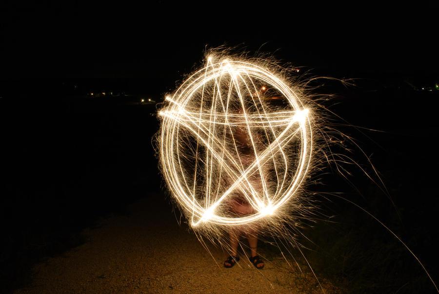 Fiery Pentagram by Bigredtx