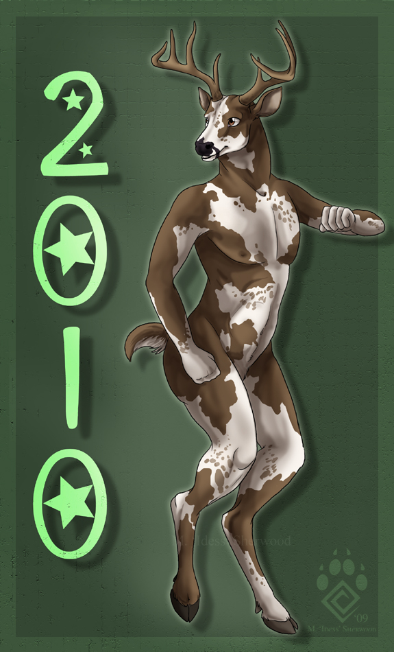 Happy Nude Deer 2010 by Idess
