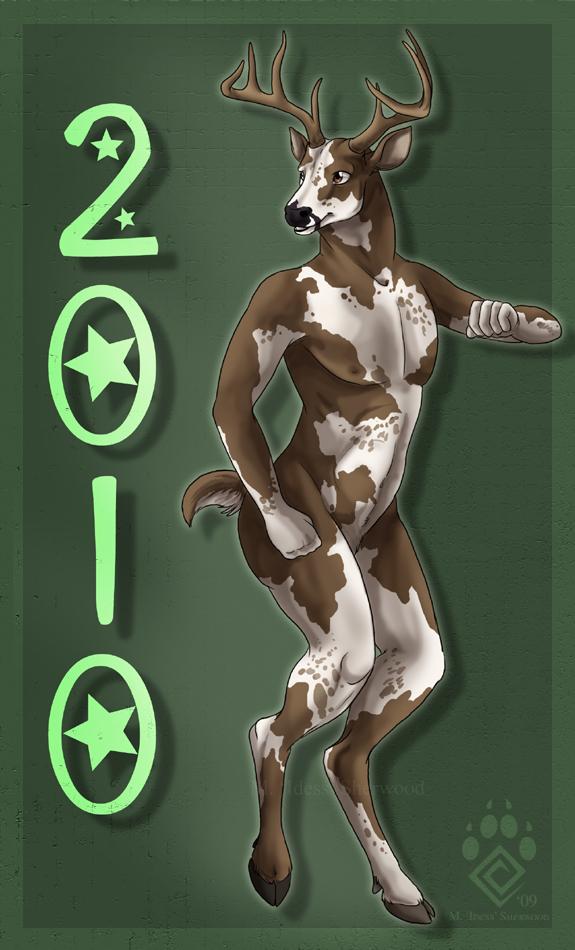 Happy Nude Deer 2010 by Idess
