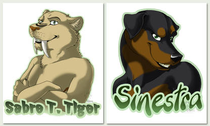 Saber and Sinestra Badges