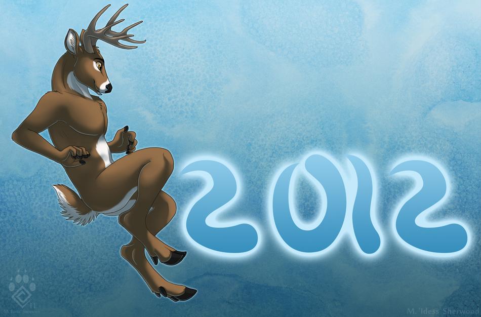 Happy Nude Deer 2012 by Idess