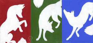 RGB Foxes by Idess