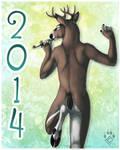 Happy Nude Deer 2014