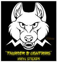 'Thunder and Lightning' Vinyl Sticker