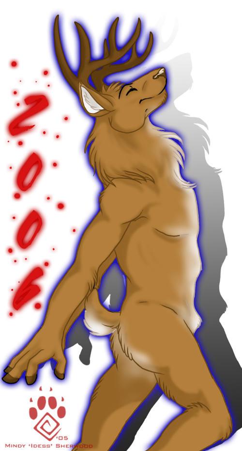 Happy Nude Deer 2006 by Idess
