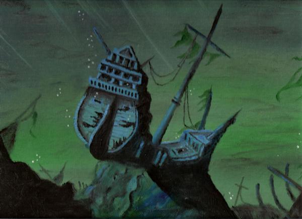 Sunken Ship by Xaliryn