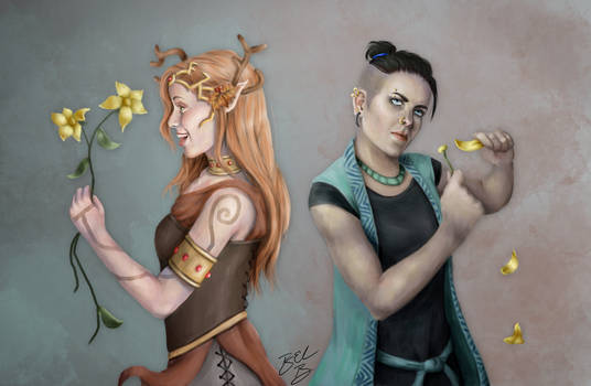 Keyleth and Beau and Flowers