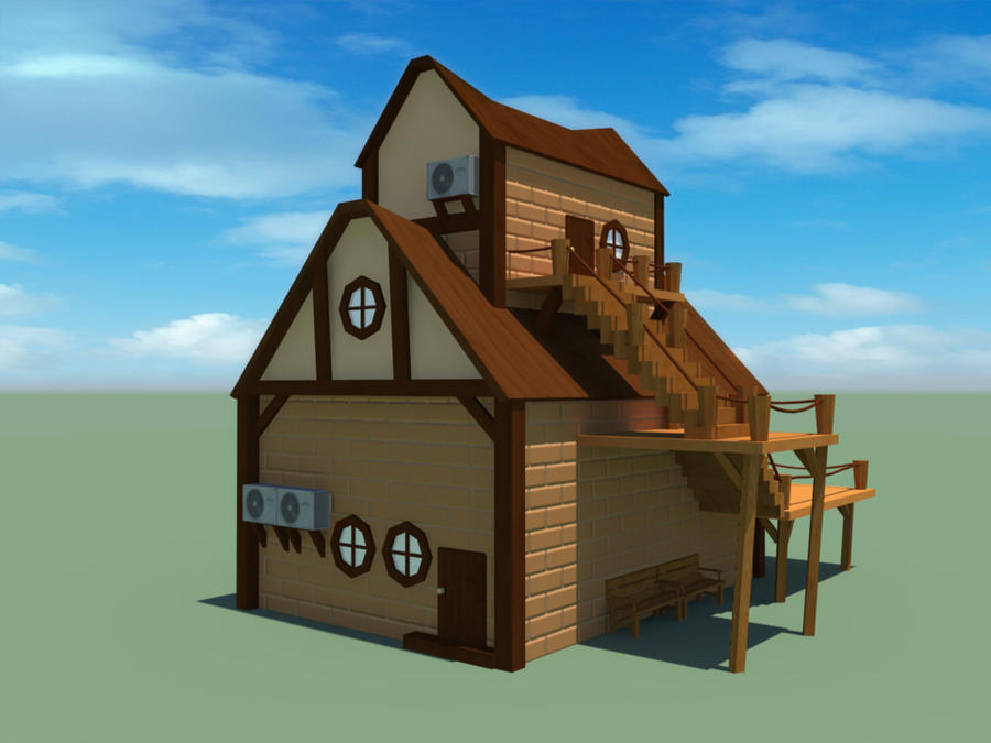 My resort house 3d model by mon82 on deviantart for My home 3d
